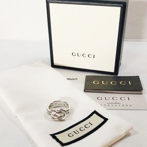 """New Authentic Gucci """"Grande"""" Knot Ring Size 6"""